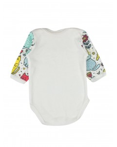 Body 'Cats in the garden' white