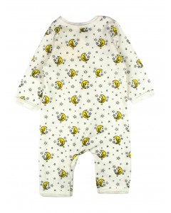Jumpsuit with zipper 'Cats in the garden' lactic