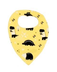 Слюнявчик жовтий Динозаври