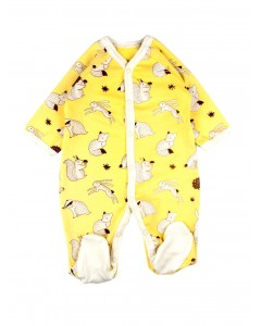 Jumpsuit 'Magical forest' yellow