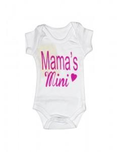 Бодик белый Mama's с коротким рукавами
