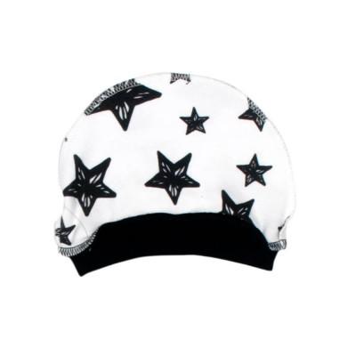 Шапочка белая Звезда черная