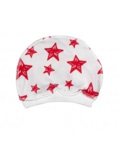 Шапочка белая Звезда красная