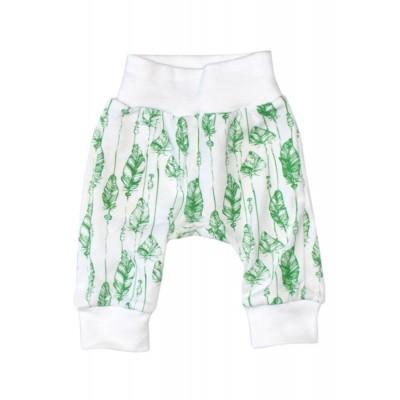 Штанці білі Перо зелене