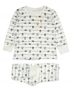 Пижама молочная Панда