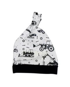 White tractor cap