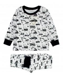 Пижама белая Трактора