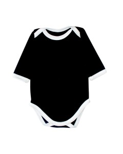 Black bodysuit with white trim