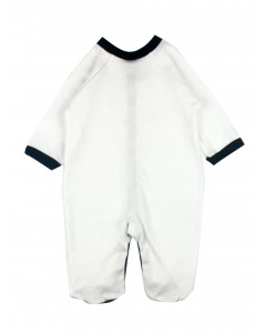 Jumpsuit white with black edging