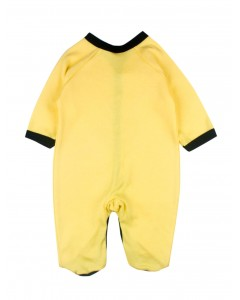 Jumpsuit yellow with black edging