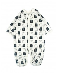 Jumpsuit 'Monochrome cats' lactic
