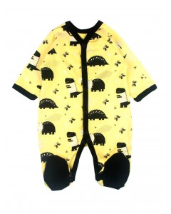 Jumpsuit 'Dinosaurs' yellow