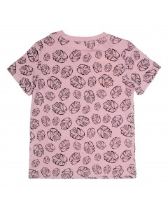 T-shirt pink leaves