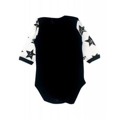 Бодік чорний білі рукава Stars