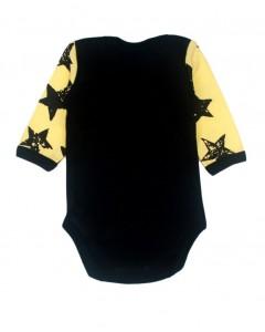 Бодік чорний з жовтими рукавами Stars