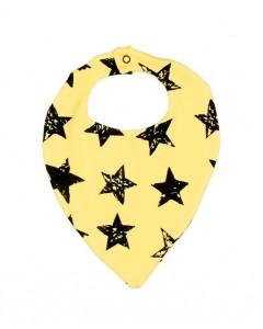 Слюнявчик жовтий Stars