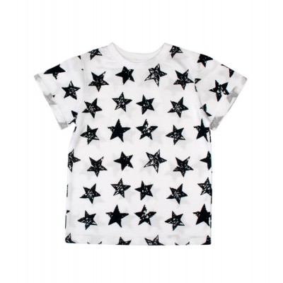 Футболка біла Stars чорні