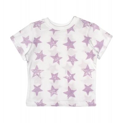 Футболка біла Stars рожеві