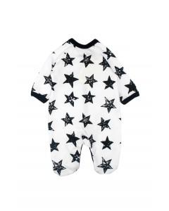 Jumpsuit 'Stars' white