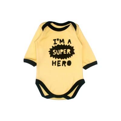 Боді жовтий Little stars Hero