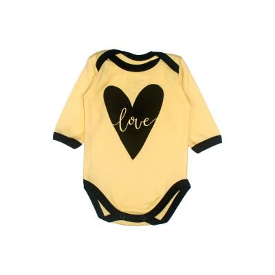 Бодік жовтий Little stars Серце