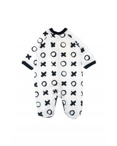 Jumpsuit 'Hugs and kisses ' white